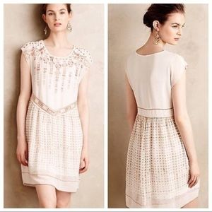 Anthropologie One September Embroidered Dress